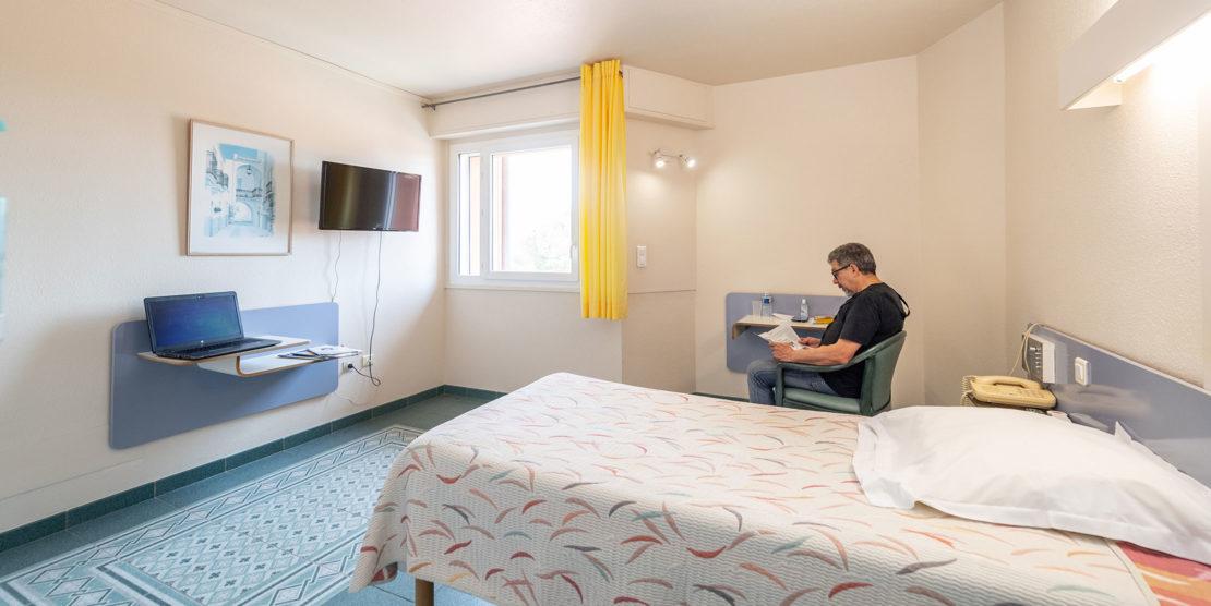 Des chambres claires et confortables (climatisation réversible)